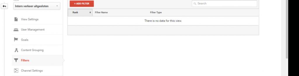 Google Analytics installeren filter aanmaken