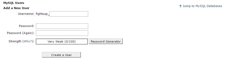 Wordpress installeren user aanmaken Mysql