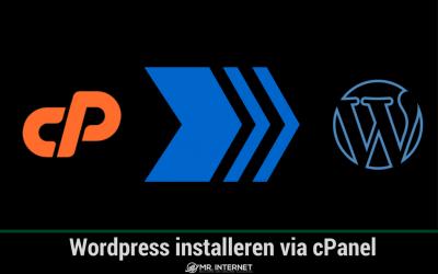 WordPress installeren via cPanel