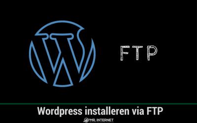 WordPress installeren via FTP