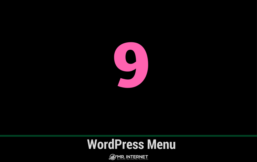 WordPress Menu aanmaken
