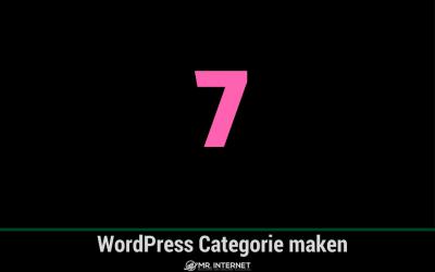 WordPress Categorie maken