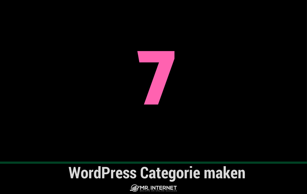 WordPress Categorie maken