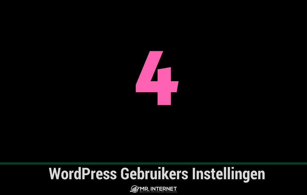 WordPress gebruikers instellingen