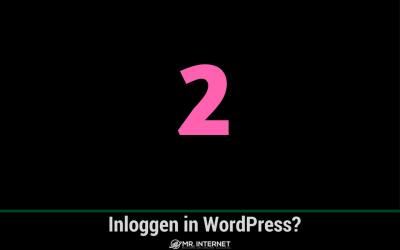 Inloggen in WordPress Hoe doe je dat?