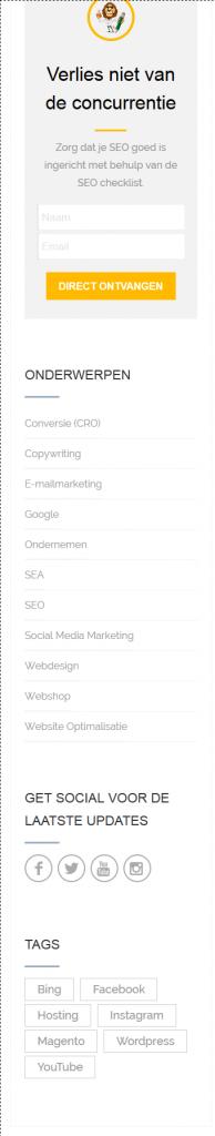 wordpress widgets voorbeeld